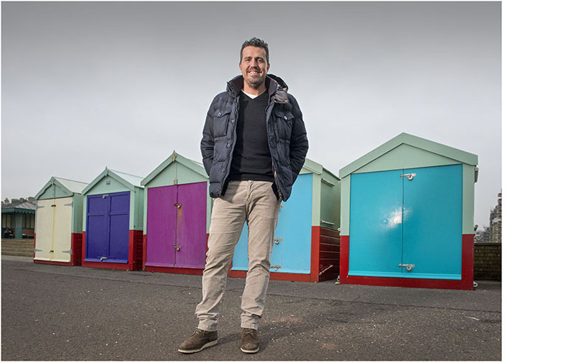 David Hill photographs Oscar Garcia, Albion FC's new manager on Brighton Seafront